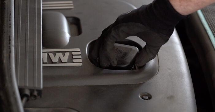 BMW E90 320i 2.0 2005 Eļļas filtrs nomaiņa: bezmaksas remonta rokasgrāmatas