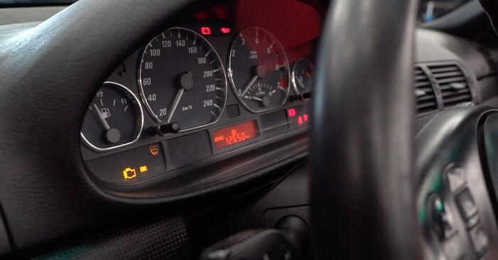 Kā nomainīt Degvielas filtrs BMW 3 Cabrio (E46) 2003 - lejupielādējiet PDF rokasgrāmatas un video instrukcijas