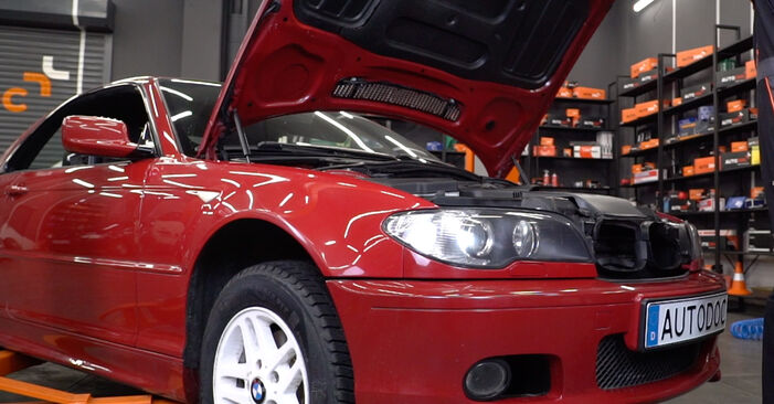 How to change Oil Filter on BMW 3 Convertible (E46) 1998 - free PDF and video manuals