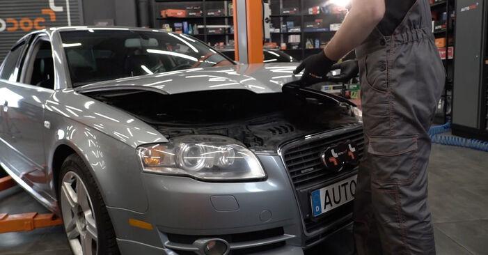 Wie Bremsbeläge Audi A4 B7 Limousine 2.0 TDI 16V 2004 tauschen - Kostenlose PDF- und Videoanleitungen