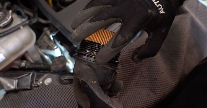 How to replace Oil Filter on FIAT 500 (312) 2014: download PDF manuals and video instructions