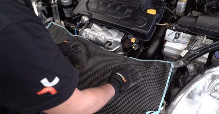 How to replace FIAT BRAVO II (198) 1.9 D Multijet 2007 Oil Filter - step-by-step manuals and video guides