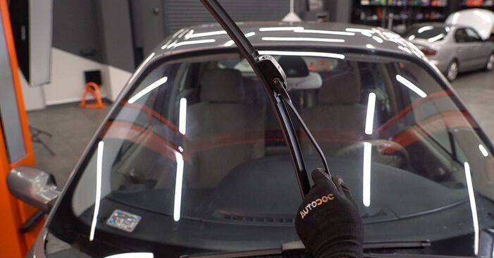 How to replace RENAULT SCÉNIC II (JM0/1_) 1.9 dCi 2004 Wiper Blades - step-by-step manuals and video guides