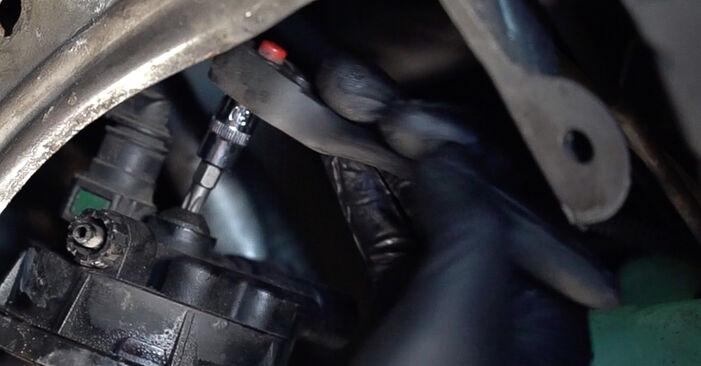 Wie schwer ist es, selbst zu reparieren: Kraftstofffilter Renault Scenic 2 1.9 dCi 2009 Tausch - Downloaden Sie sich illustrierte Anleitungen