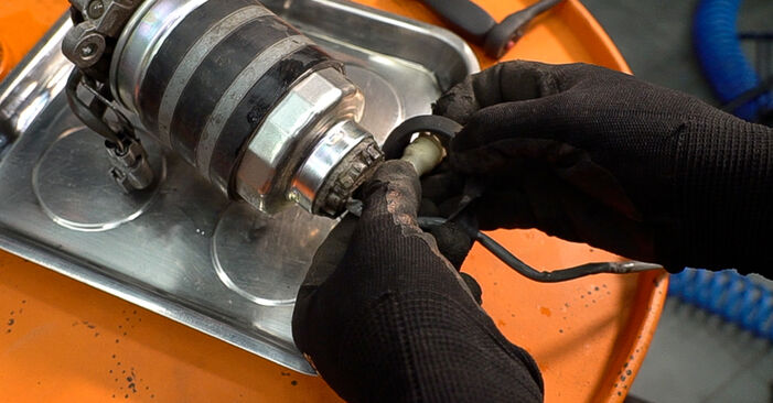 Changing of Fuel Filter on Toyota Prado J120 2003 won't be an issue if you follow this illustrated step-by-step guide