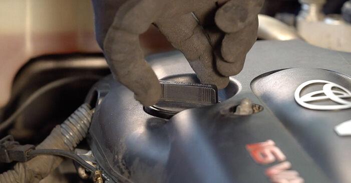 Mudar Filtro de Óleo no Toyota RAV4 III 2013 não será um problema se você seguir este guia ilustrado passo a passo