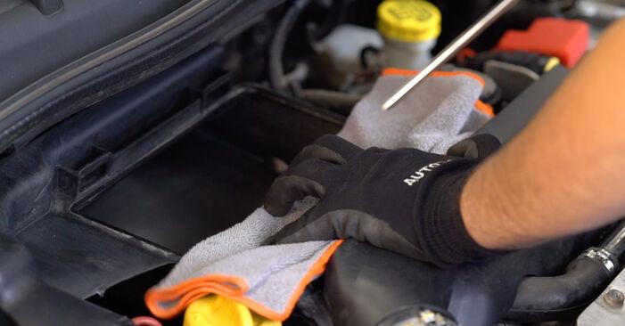 Wie schwer ist es, selbst zu reparieren: Luftfilter Abarth 595 1.4 (312.AXT1A) 2014 Tausch - Downloaden Sie sich illustrierte Anleitungen