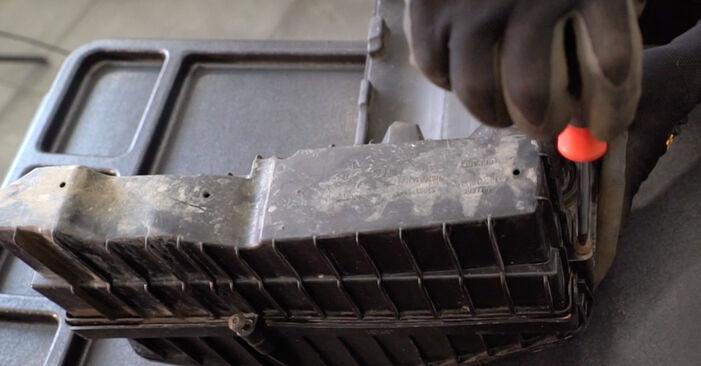 Wie schwer ist es, selbst zu reparieren: Luftfilter Renault Kangoo kc01 1.9 dTi 2003 Tausch - Downloaden Sie sich illustrierte Anleitungen