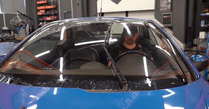 Wie schwer ist es, selbst zu reparieren: Scheibenwischer Peugeot 206 cc 2d 1.6 HDi 110 2004 Tausch - Downloaden Sie sich illustrierte Anleitungen