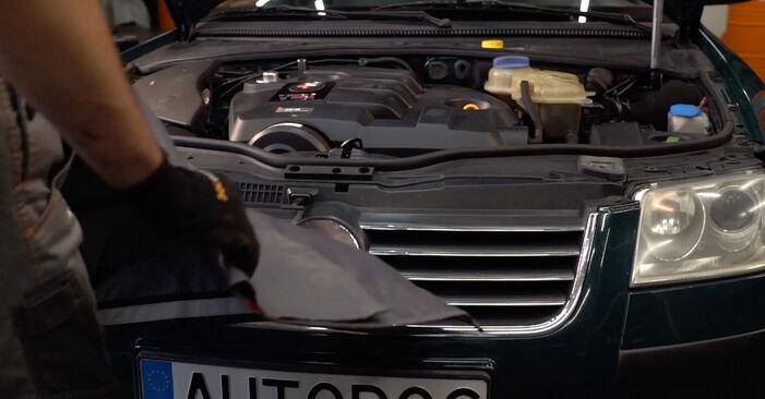 Jak dlouho trvá výměna: Olejovy filtr na autě Passat 3B6 1998 - informační PDF návod