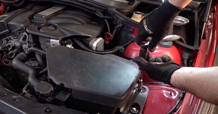BMW 3 Convertible (E46) 320Ci 2.2 2000 Gaisa filtrs nomaiņa: bezmaksas remonta rokasgrāmatas