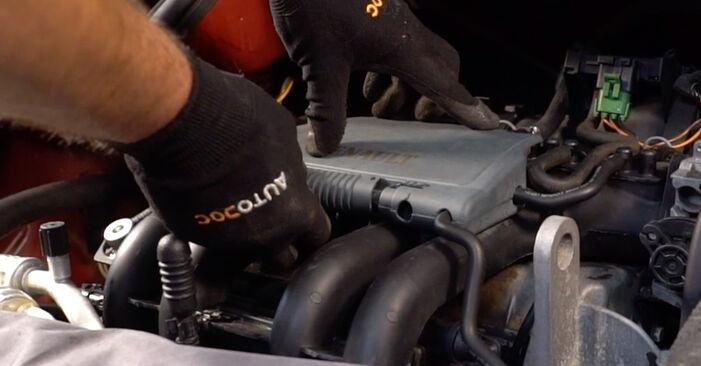 TWINGO I (C06_) 1.2 2004 Tændrør gør-det-selv udskiftnings værksted manual