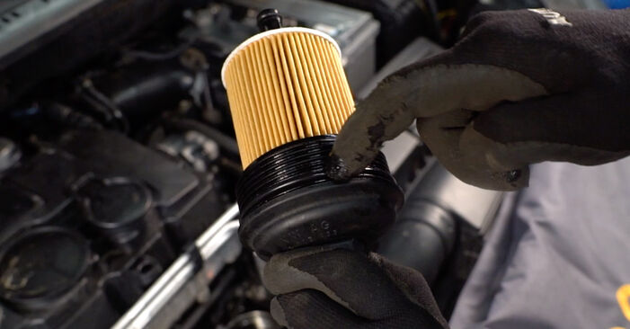 Replacing Oil Filter on Touran 1t1 1t2 2005 1.9 TDI by yourself
