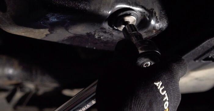 Mennyire nehéz önállóan elvégezni: Opel Corsa C 1.7 DI (F08, F68) 2006 Olajszűrő cseréje - töltse le az ábrákat tartalmazó útmutatót