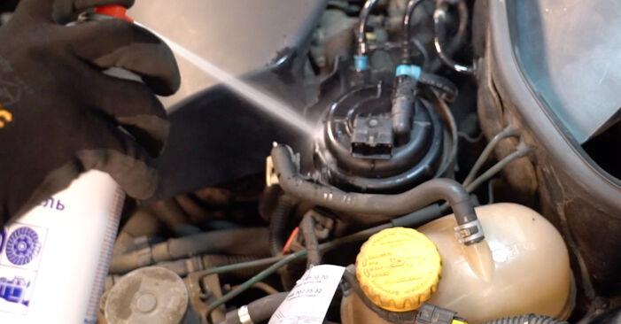Wechseln Kraftstofffilter am OPEL Corsa C Schrägheck (X01) 1.2 Twinport (F08, F68) 2003 selber