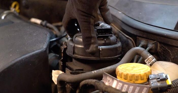 Wie schwer ist es, selbst zu reparieren: Kraftstofffilter Opel Corsa C 1.7 DI (F08, F68) 2006 Tausch - Downloaden Sie sich illustrierte Anleitungen