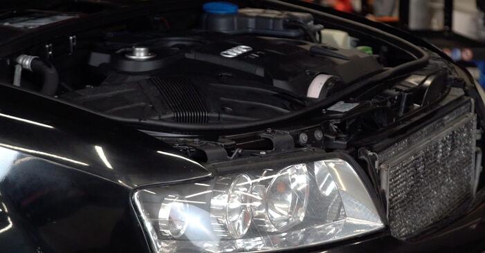 Как се сменя Маслен филтър на Audi A4 B6 Avant 2000 - безплатни PDF и видео уроци