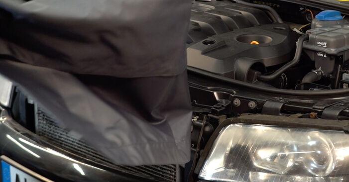 Не е трудно да го направим сами: смяна на Маслен филтър на Audi A4 B6 Avant 1.8 T quattro 2001 - свали илюстрирано ръководство
