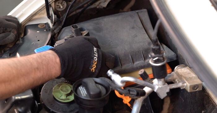 Comment changer Filtre à Air sur VW Transporter IV Minibus (70B, 70C, 7DB, 7DK, 70J, 70K, 7DC, 7DJ) 2002 - trucs et astuces