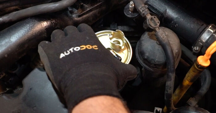 A4 Avant (8E5, B6) 2.5 TDI 2001 Kuro filtras savarankiško keitimo instrukcija