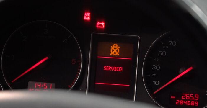 Wie schwer ist es, selbst zu reparieren: Kraftstofffilter Audi A4 B6 Avant 1.8 T quattro 2001 Tausch - Downloaden Sie sich illustrierte Anleitungen