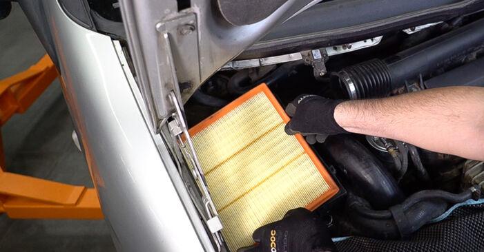 VITO Bus (638) 108 D 2.3 (638.164) 1999 108 CDI 2.2 (638.194) Luftfilter - Handbuch zum Wechsel und der Reparatur eigenständig