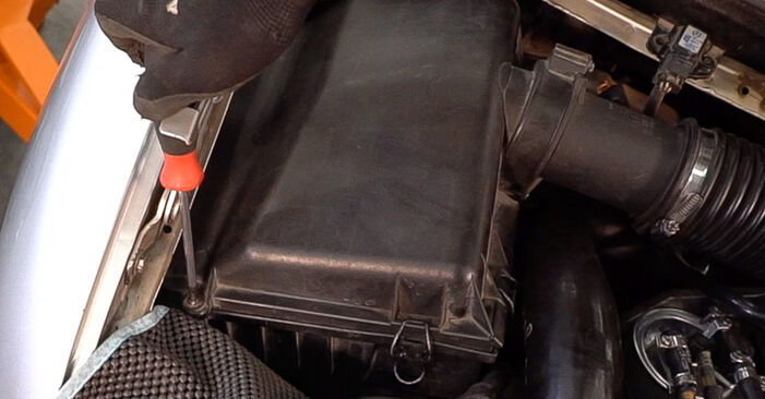 How to change Air Filter on Mercedes W638 Minibus 1996 - free PDF and video manuals
