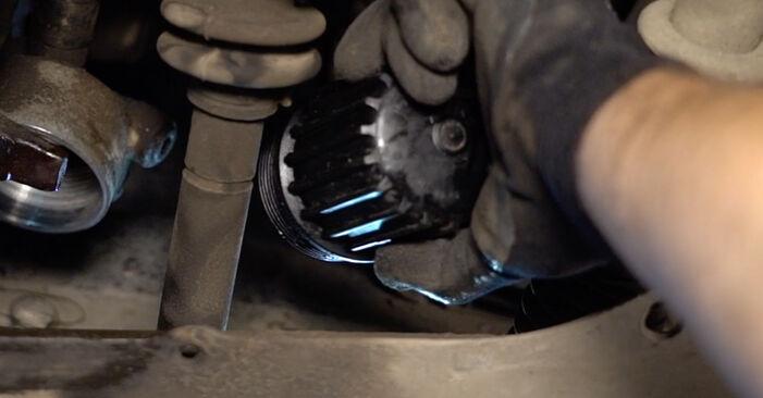 Sustitución de Filtro de Aceite en un Renault Clio 2 1.2 16V 2000: manuales de taller gratuitos