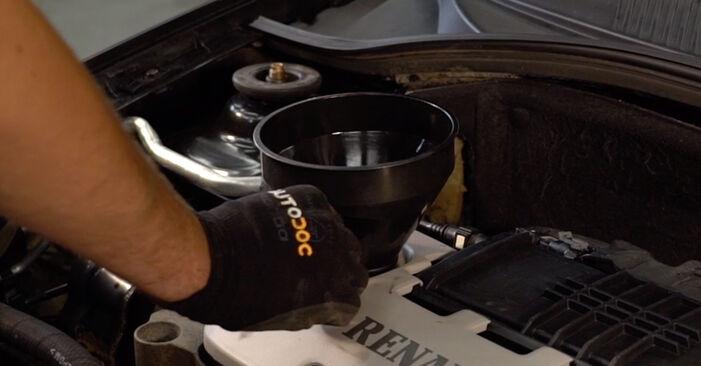 RENAULT CLIO 1.2 16V Ölfilter ausbauen: Anweisungen und Video-Tutorials online