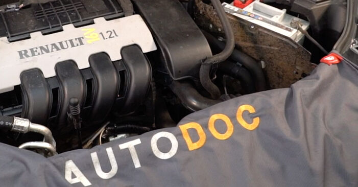 Schrittweise Anleitung zum eigenhändigen Ersatz von Renault Clio 2 2011 1.4 Zündkerzen