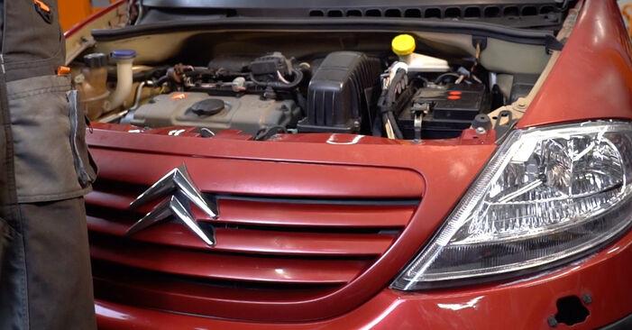 C3 I Hatchback (FC_, FN_) 1.4 16V HDi 2013 Oljni filter DIY menjava, priročnik delavnice