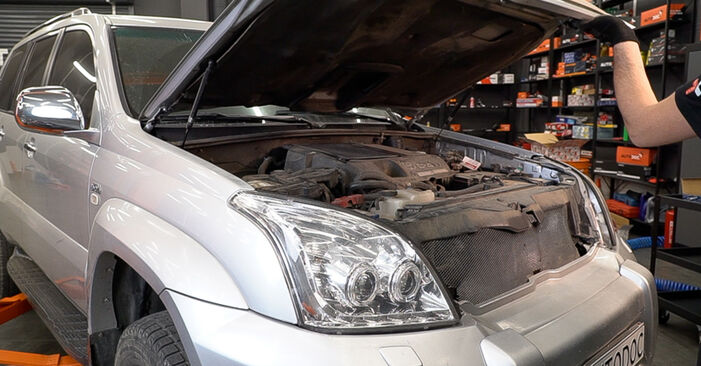 How to change Air Filter on Toyota Prado J120 2002 - free PDF and video manuals