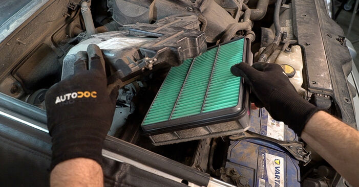 How to remove TOYOTA LAND CRUISER 3.0 D-4D 2006 Air Filter - online easy-to-follow instructions