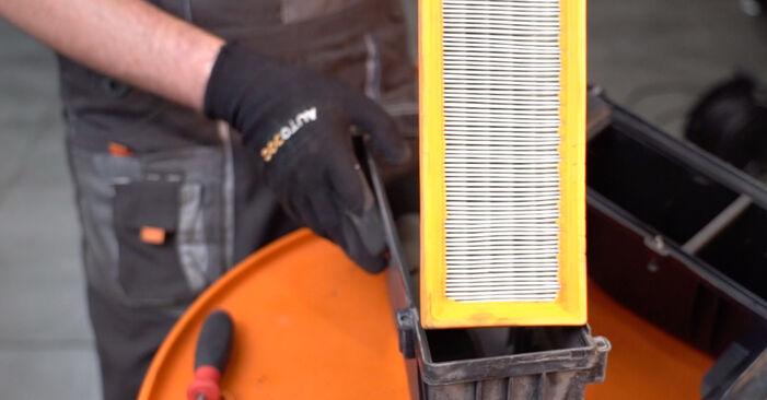 CITROËN C3 1.4 i Luftfilter ausbauen: Anweisungen und Video-Tutorials online