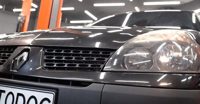 Stapsgewijze aanbevelingen om zelf Renault Clio 2 2011 1.4 Luchtfilter vervangen