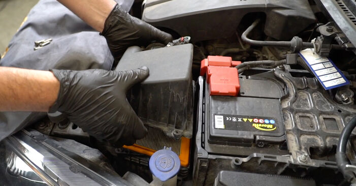 Changing Air Filter on FORD Fiesta Mk6 Hatchback (JA8, JR8) 1.5 TDCi 2011 by yourself