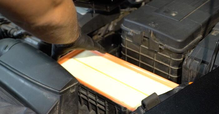 Jak dlouho trvá výměna: Vzduchovy filtr na autě Octavia 1z5 2012 - informační PDF návod