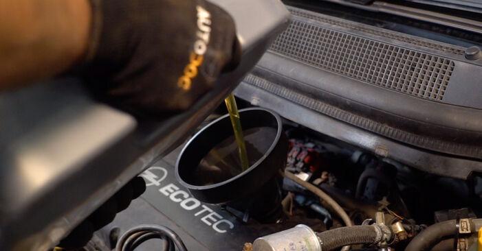 Opel Zafira B 2015 1.9 CDTI (M75) Alyvos filtras keitimas savarankiškai