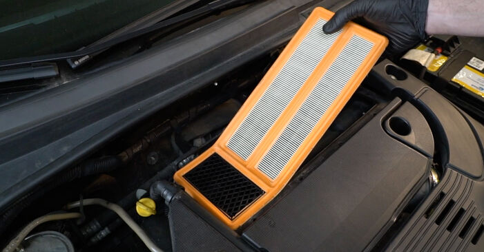 How to remove FIAT PUNTO 1.4 2009 Air Filter - online easy-to-follow instructions