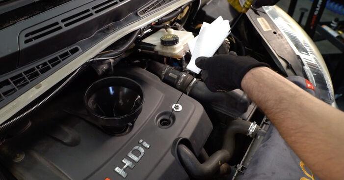 Citroen Xsara Picasso 1.6 HDi 1999 Ölfilter wechseln: Kostenfreie Reparaturwegleitungen