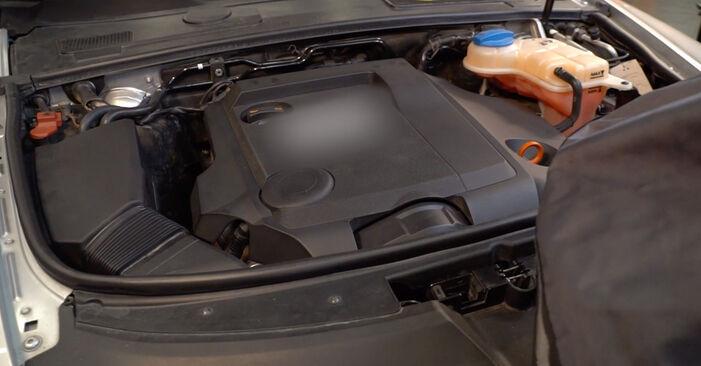 A6 Sedan (4F2, C6) 2.0 TFSI 2007 Filtr powietrza instrukcje warsztatowe samodzielnej wymiany