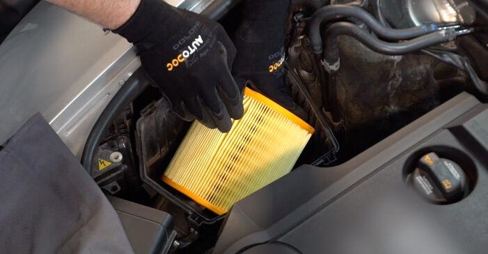 Ile czasu zajmuje wymiana: Filtr powietrza w Audi A6 4f2 2004 - pouczająca instrukcja w formacie PDF