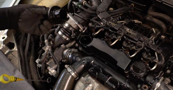 Steg-för-steg-rekommendationer för att byta Volvo v50 mw 2006 1.8 FlexFuel Oljefilter på egen hand