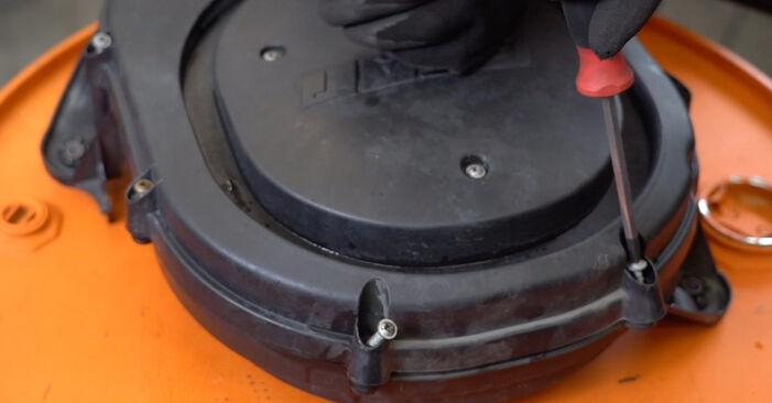 FIAT PUNTO 1.2 Bifuel Luftfilter ausbauen: Anweisungen und Video-Tutorials online