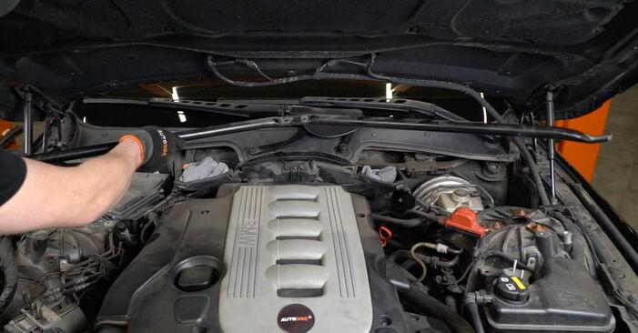 Byta BMW E60 525d 2.5 2003 Luftfilter: gratis verkstadsmanualer