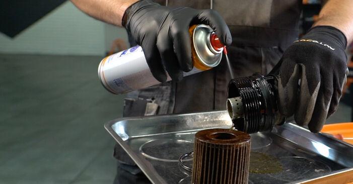 Consigli passo-passo per la sostituzione del fai da te Toyota Auris e15 2012 1.4 (ZZE150_) Filtro Olio