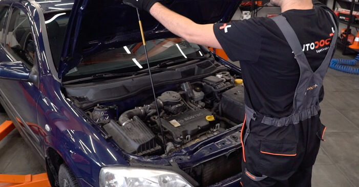 Hur byta Stabilisatorstag på Opel Astra g f48 1998 – gratis PDF- och videomanualer