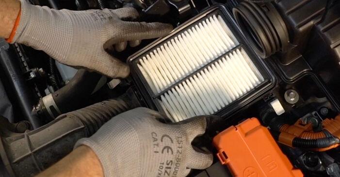 Luftfilter Ihres Honda Insight ZE2/ZE3 1.5 Hybrid (ZE3) 2017 selbst Wechsel - Gratis Tutorial