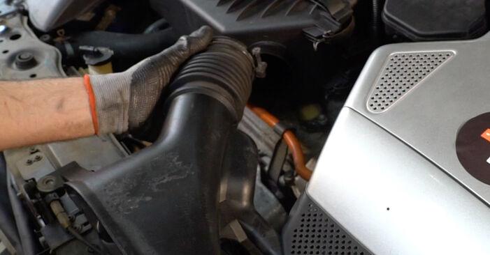 Wie schwer ist es, selbst zu reparieren: Luftfilter Lexus RX XU30 330 (MCU38_) 2003 Tausch - Downloaden Sie sich illustrierte Anleitungen