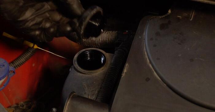 Wechseln Ölfilter am PEUGEOT 107 Schrägheck (PM_, PN_) 1.4 HDi 2008 selber